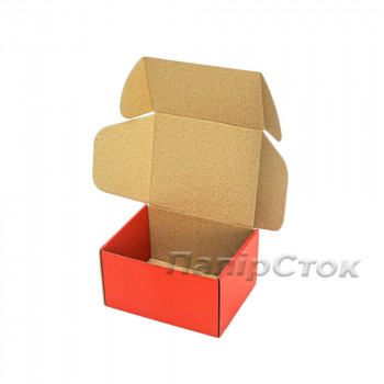 Коробка с микрогофр. красная 190х150х100, самосборная