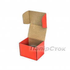 Коробка с микрогофр. красная 114х95х100 самосборная