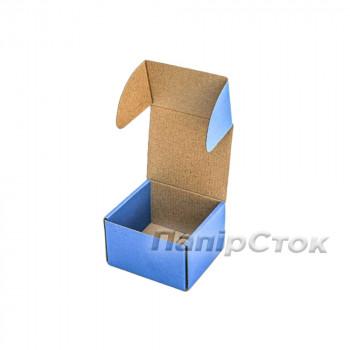 Коробка с микрогофр. синяя 90х90х60 самосборная