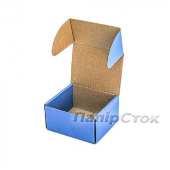 Коробка с микрогофр. синяя 160х85х110 самосборная