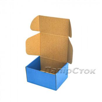 Коробка с микрогофр. синяя 190х150х100, самосборная
