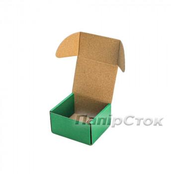 Коробка с микрогофр.зеленая 90х90х60 самосборная