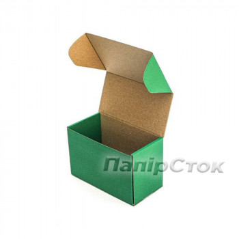 Коробка с микрогофр. зеленая 160х85х110 самосборная