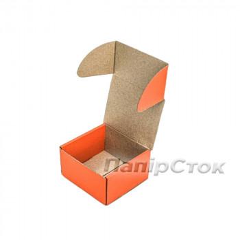 Коробка с микрогофр. оранжевая 90х90х60 самосборная
