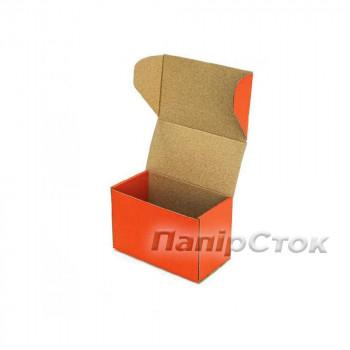 Коробка с микрогофр. оранжевая 160х85х110 самосборная