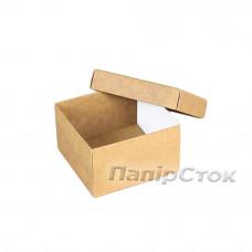 Коробка с мелов.картон. крафт 90х90х50 самосборная 2ч. - image
