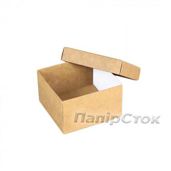 Коробка с мелов.картон. крафт 90х90х50 самосборная 2ч.