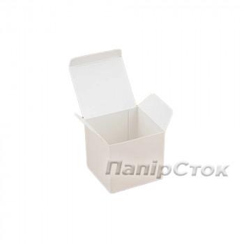 Коробка с мелов.картон.белая 55х55х55 самосборная