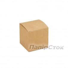 Коробка с мелов.картон.крафт 55х55х55 самосборная