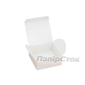 Коробка с мелов.картон. белая 70х70х30 самосборная 2ч.