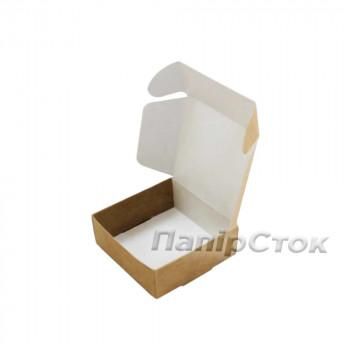 Коробка с мелов.картон. крафт 70х70х30 самосборная