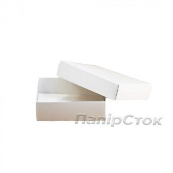 Коробка с мелов.картон. белая  90х90х25 самосборная 3ч.