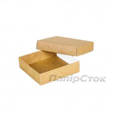 Коробка с мелов.картон. крафт 90х90х25 самосборная 3ч.