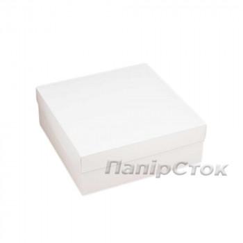 Коробка с мелов.картон. белая 180х180х60 самосборная 3ч