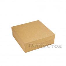 Коробка с мелов.картон. крафт 180х180х60 самосборная 3ч