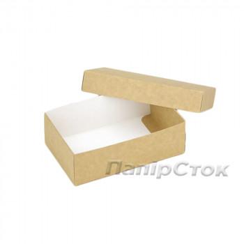 Коробка с мелов.картон. крафт 140х85х85, самосборная 2ч.
