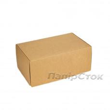 Коробка з мелов.картон. крафт 280х180х100 самосборная
