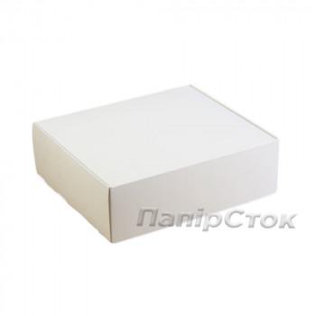 Коробка з мелов.картон. белая 290х250х90 самосборная