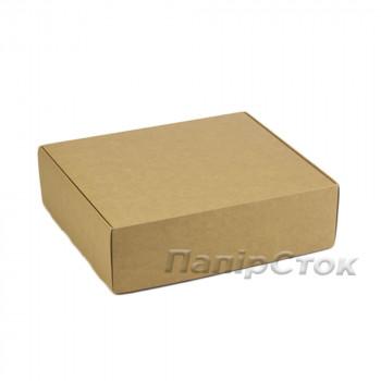 Коробка з мелов.картон. крафт 290х250х90 самосборная