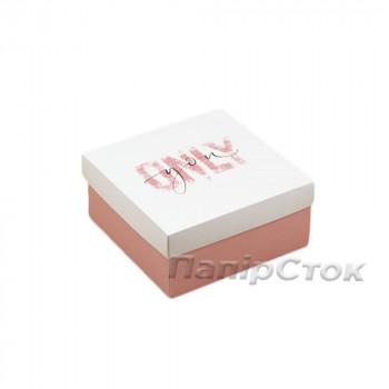 Коробка с мелов.картон.140х140х70 Оnly you, самосборная 2ч.