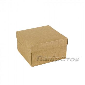 Коробка с мелов.картон. крафт 140х140х70 , самосборная 2ч.
