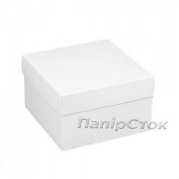 Коробка з мелов.картон. белая 280х280х150 самосборная 3ч.