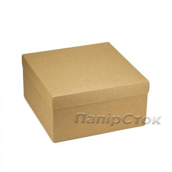 Коробка з мелов.картон. крафт 280х280х150 самосборная 3ч.