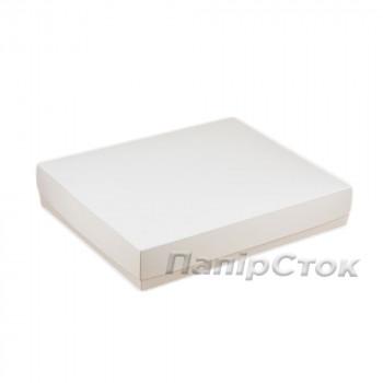 Коробка з мелов.картон. белая 280х230х50 самосборная 2ч.