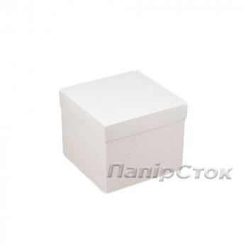 Коробка с мелов.картон. белая 150х150х130 самосборная 2ч