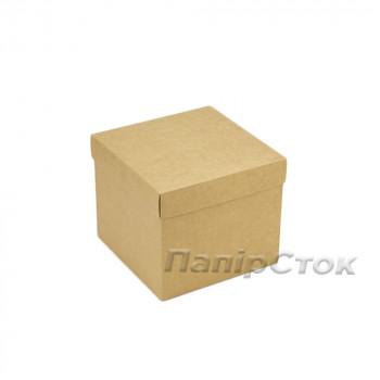 Коробка с мелов.картон. крафт 150х150х130 самосборная 2ч
