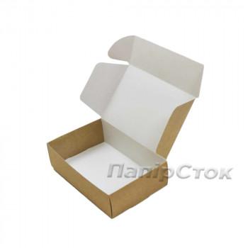 Коробка с мелов.картон. крафт 150х100х50 самосборная