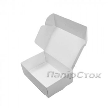 Коробка с мелов.картон. белая 150х100х50 самосборная