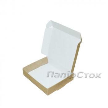 Коробка с мелов.картон. крафт 100х80х20 самосборная