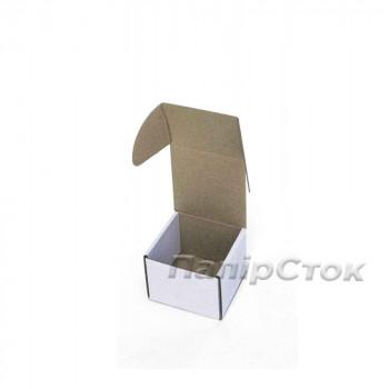 Коробка с микрогофр. белая 90х90х60, самосборная