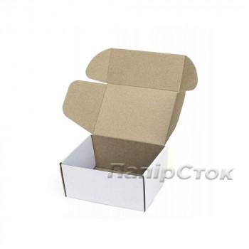 Коробка с микрогофр. белая 190х150х100, самосборная