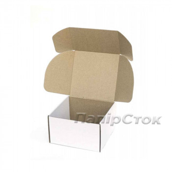 Коробка с микрогофр. белая 205х205х125, самосборная