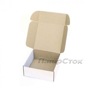 Коробка с микрогофр. белая 250х250х100, самосборная