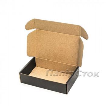 Коробка с микрогофр. черная 175х115х45, самосборная