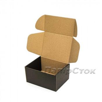 Коробка с микрогофр. черная 190х150х100, самосборная