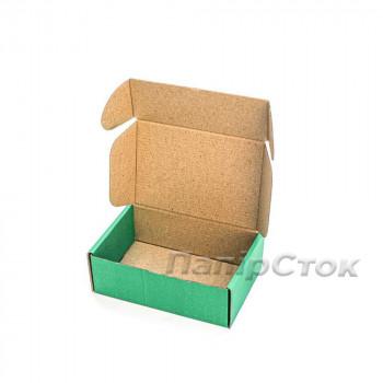 Коробка с микрогофр. зеленая 150х100х50, самосборная