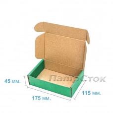 Коробка с микрогофр. зеленая 175х115х45, самосборная