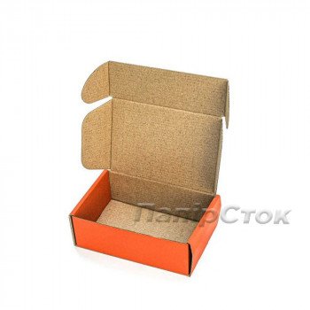 Коробка с микрогофр. оранжевая 150х100х50, самосборная