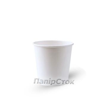 Стакан бумаж. двухсл. 110 мл белый (15/810)