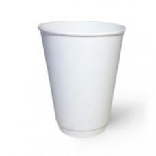 Стакан бумаж. двухсл. 340 мл белый (15/525, КР-80)
