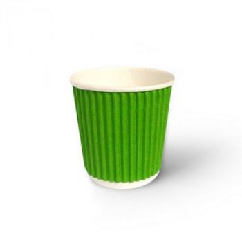Стакан гофр. 110 мл зелен. (25/1050)