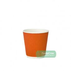 Стакан гофр. 110 мл оранжевый (25/1050)