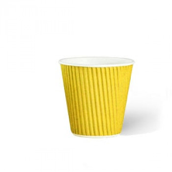 Стакан гофр. 110 мл желтый (25/1050)