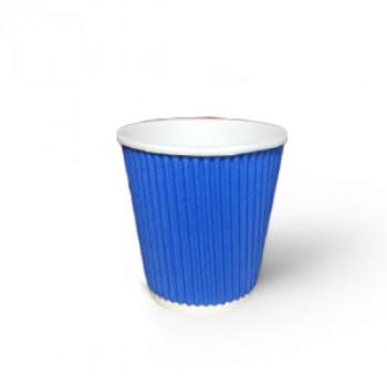 Стакан гофр. 110 мл синий (25/1050)