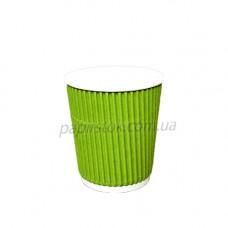 Стакан гофр. 185 мл зелёный (25/900, КР-69 фигур.)