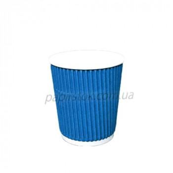 Стакан гофр. 185 мл синий (25/900, КР-69 фигур.)